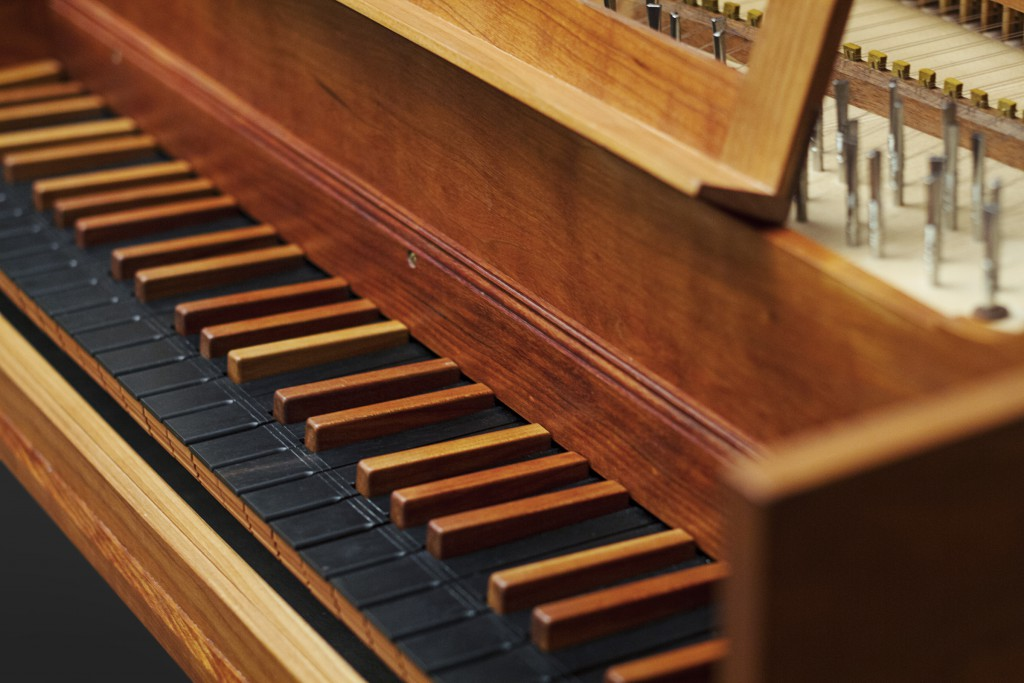 Fransk cembalo klaviatur 1